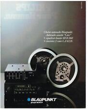 PUBLICITE ADVERTISING  1980   BLAUPUNKT  chaine auto-radio