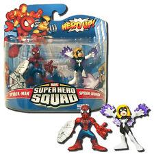 Super Hero Squad Spider-man Black Suit Spider-woman Arachne Figures UK Seller