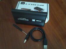 Carcasa caja para disco duro externo PC SATA 2,5+destornillador +cable USB
