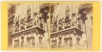 Porta Da La Cattedrale Milan Italia Foto Stereo PL55L5n Vintage Albumina