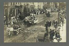 Horicon Wisconsin Rp 1908 Parade Main Street nr Beaver Dam Mayville Juneau