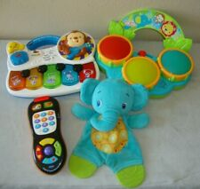 Vtech Bright Starts Infant Baby Toy Lot Teethe Elephant Remote Piano Drums