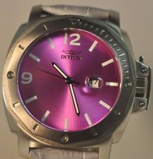 Invicta Mens 18836 Specialty Purple Dial Leather Strap Watch