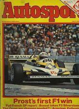 Autosport July 9th 1981 *French Grand Prix*