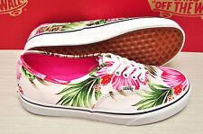 Vans Authentic Hawaiian Floral White Women's Size 6.5