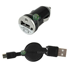 Car Charger+USB Micro Retract Cable for Samsung Galaxy Note 1 2 3 4 5 Core Prime