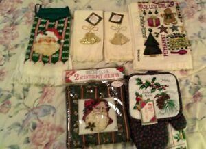 Lot Of 10 Christmas Kitchen Towel Set