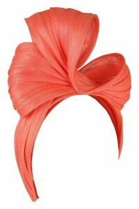 Morgan & Taylor Rafaella Turban Headpiece in Coral