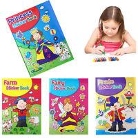A4 Colouring Book Sticker Kids Activity Girl Boy Pirate Princess Fun Stickers