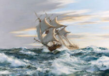LMOP193 100% hand-painted seascape sea wavy landscape OIL PAINTING on CANVAS ART