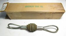 """New Greenlee 2 1/2"""" Duct or Conduit Cleaning Swab for Cable Pulling"""