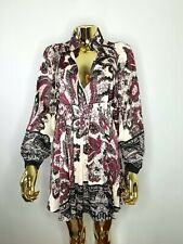 FREE PEOPLE Women Tunic Mini Dress Boho Long Sleeves Empire Waist  sz XP XS