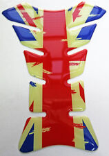 Union Jack Distressed Faded Look 3D Gel Resin Tank Pad
