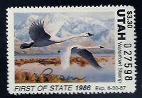 UT1  1986 UTAH  1st of  State Duck Stamp-Artist Signed MINT OGNH-OFFER?