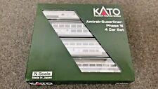 Kato N Scale Amtrak Superliner Phase VI 4 car set B NIB STK #106-3516