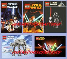 Lego Star Wars set of 5 Posters Signs AT-AT Darth Vader Yoda - high quality