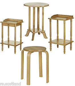 Telephone Table End Table & Stacking Stool Tropical Hevea Wood  Modern New