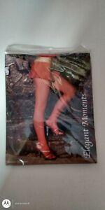 Women Fishnet Pantyhose Plus Size 1X Queen Red Elegant Moments 1733 Q