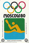 Canoë kayak kayaking Canoeing MOSCOU Moscow Olympic GAMES MATCHBOX LABEL 1980