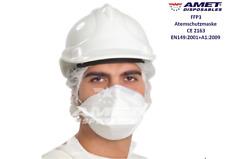 FFP3 Atemschutzmaske 4 Lagen, AMET Disposables, CE, EN149:2001+A1:2009, BFE≥ 99%