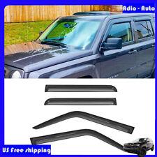 4pcs Smoke Sunrain Guard Vents Shade Window Visors For Jeep Patriot 2007 2017 Fits 2012 Jeep Patriot