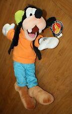 "W Tag Disney Parks Original Goofy 15"" Plush Stuffed Animals Green Hat"
