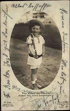 Adel Monarchie 1910 Echtfoto-AK Prinz Wilhelm von Preussen als Kind mit Gewehr