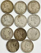 LOT (11) CANADA HALF DOLLAR FIFTY CENT NEWFOUNDLAND SILVER COINS GEORGE VICTORIA