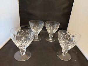 """Royal Doulton/webb corbett 'GEORGIAN' Water Goblet/Glasses  x 4 ( 4 1/2"""")"""