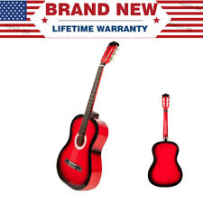 """38"""" Beginners Red Color Acoustic Guitar 6String Children Kids Xmas New Year Gift"""