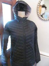 New Barbour international black light padded fibre down hooded jacket uk 12