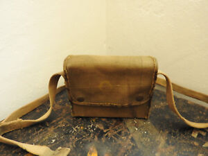 "Military WW1/2 Officers Canvas Binocular Case Webbing Marked ""L.JW & Co"" (5096)"