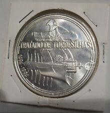 Portugal 1000$ escudos  - Tratado de tordesilhas ~ silver coin 1994 Uncirculated