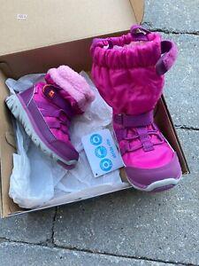 STRIDE RITE SNEAKER BOOT winter snow waterproof baby girl sz 5.5 5 1/2 WIDE W