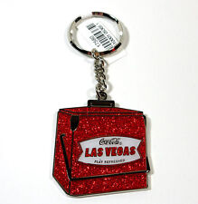 COCA-COLA LAS VEGAS - PLAY REFRESHED COOLER KEYRING - NEW - 100% AUTHENTIC
