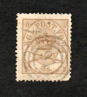 Denmark - Sc# 14 Used / 8s Bister   -   Lot 1120017