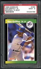 KEN GRIFFEY JR.~RARE 1989 DONRUSS BASEBALL'S BEST #192 PSA-9 MINT ROOKIE RC CARD