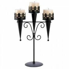 MEDIEVAL TRIPLE CANDLE HOLDER STAND - GALLERY OF LIGHT