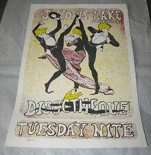WOODSTOCK, NY/Joyous Lake/Original Music Poster/1975/Hippie Art Nouveau Style