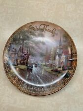 Thomas Kinkade Hometown Evening Collector Plate Limited Edition 560C