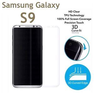 NEW UPDATED* Full Curve Samsung Galaxy S9 TPU Screen Protector Film x3