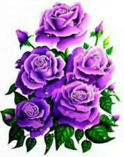 20 purple flowers Design Nail Art Manicure Tips Sticker Decal DIY Decoration