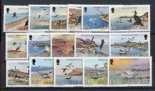 Isla De Man estampillada sin montar o nunca montada Umm sello conjunto 1983-85 SG 232-247 aves marinas definitives