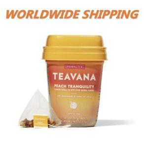 Teavana Peach Tranquility Herbal Tea Caffeine Free 15 CT WORLDWIDE SHIPPING