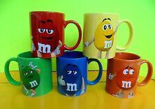 M&M M&M's 5 Charakter Tassen Rot Gelb Blau Grün Orange Keramik Tassen Neu