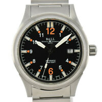 Auth BALL Stokeman NM1088C Black Dial Date Automatic Men's Watch M#93100