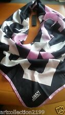 FABULOUS KARL LAGERFELD collection K. LETTERS Printed 100% SILK SCARF NWT ITALY