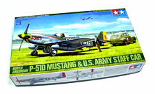 Tamiya Aircraft Model 1/48 Airplane P-51D MUSTANG & US Staff Car Hobby 89732