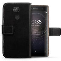 Sony Xperia XA2 Ultra Schutz Hülle Echtleder Tasche Flip Case Handy Leder Cover
