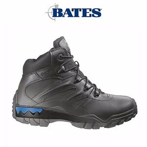 Mens Bates Tactical Delta 6 Boots Shoes Side Zip Lace Leather ICS Comfort E72012